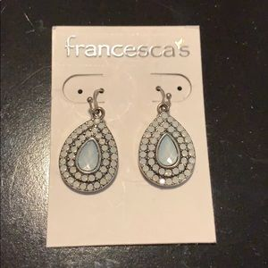 NWT. Silver and Light Blue Earrings